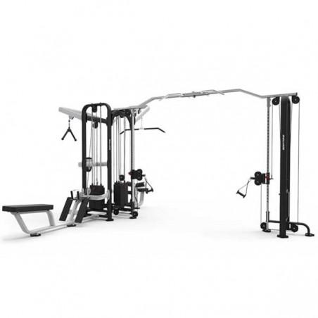 Máquina musculación profesional Cruce Poleas 7 Estaciones Evolution 436kg