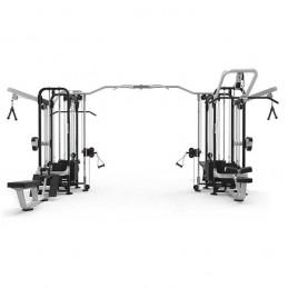 Máquina musculación profesional cruce polea 10 estaciones Evolution 760 kg
