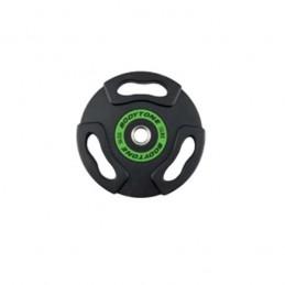 Disco goma olímpico alzamiento levantamiento pesas diámetro 50 mm
