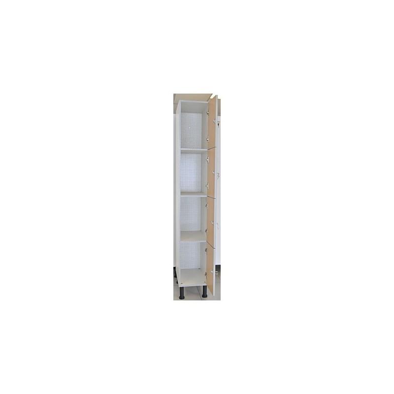 Taquilla vestuario melamina 4 puertas fenólicas 45x40x50cm