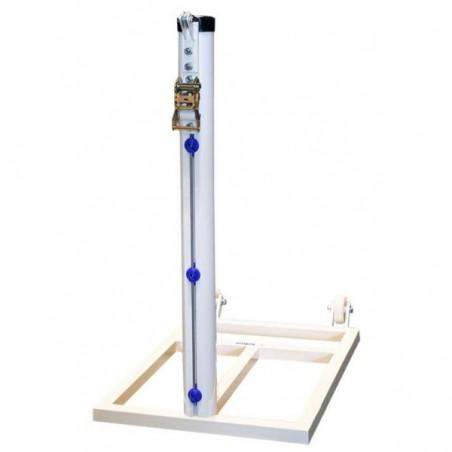 Juego postes padel trasladables aluminio redondo Ø90mm