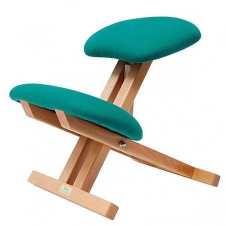 Silla ergonómica madera sin brazos ni respaldo
