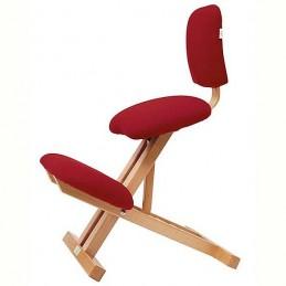 Silla ergonómica madera con respaldo sin brazos