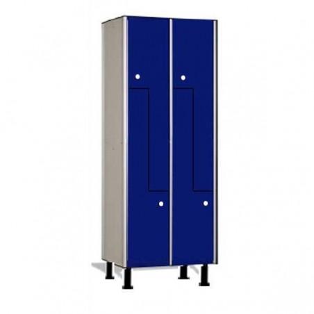 Taquillas fenólicas vestuario módulo doble 4 puertas L 90x30x50 cm