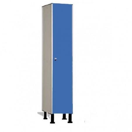 Taquilla vestuario fenólica perfil aluminio 1 puerta 180x30x50cm