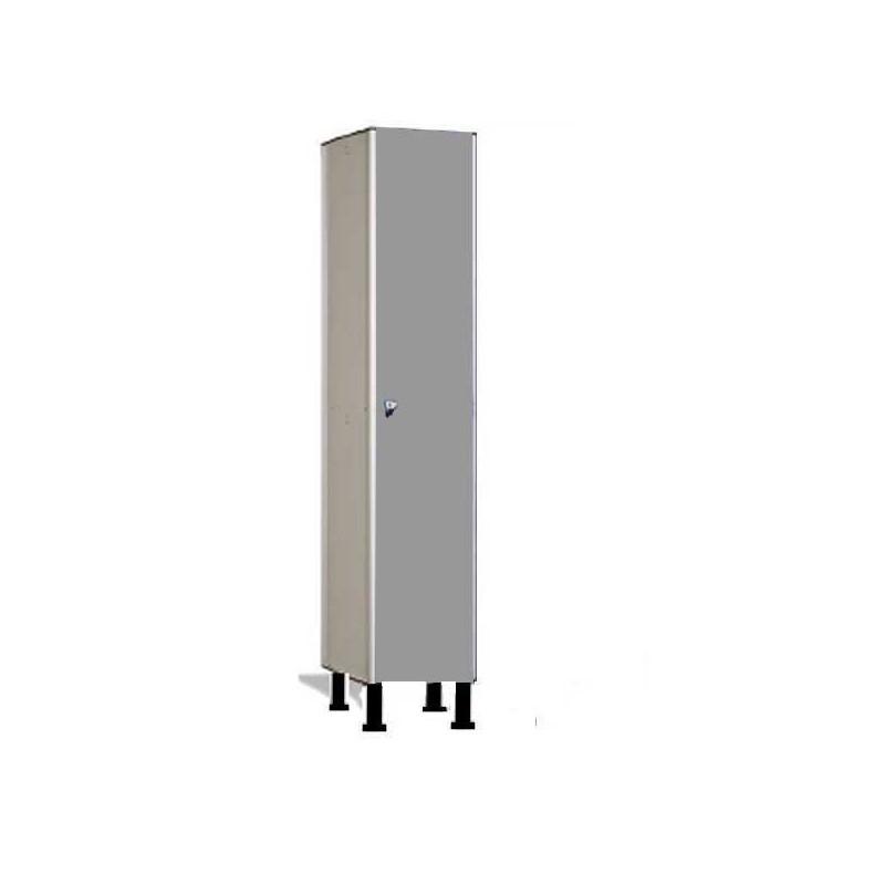Taquilla vestuario fenólica perfil aluminio 1 puerta 180x40x50cm