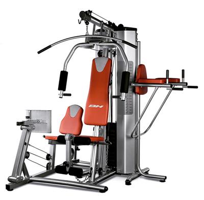 Máquina multiestaciones para realizar entrenamientos de musculación en casa