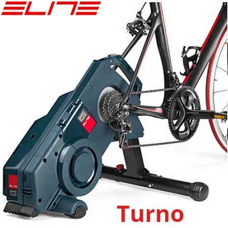 El nuevo rodillo de entrenamiento Elite Turno sustituye a la rueda trasera y utiliza resistencia por fluidos.